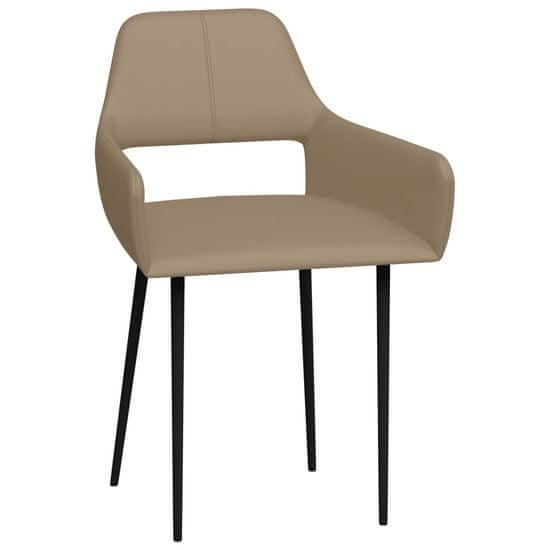 shumee Jedilni stoli 2 kosa kapučino umetno usnje