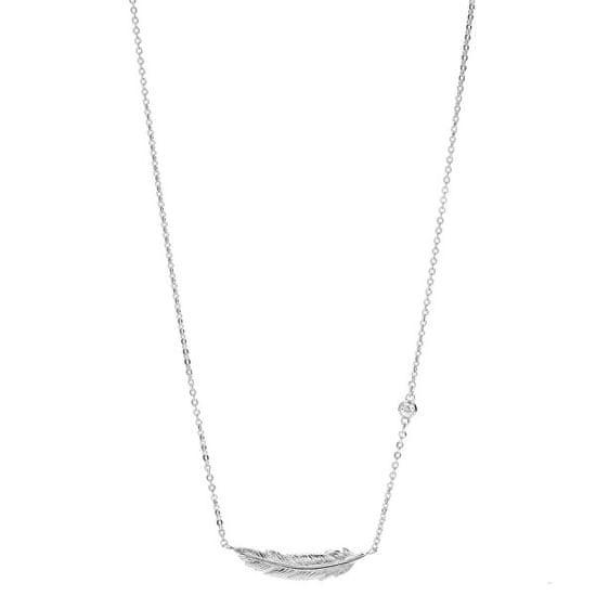Fossil Dámský náhrdelník s peříčkem JFS00407040 stříbro 925/1000