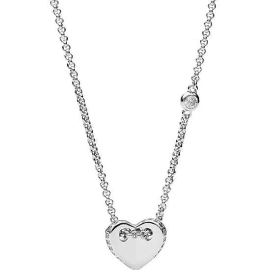Fossil Dámský náhrdelník se srdíčkem JFS00425040 stříbro 925/1000