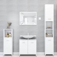 shumee Kopalniško pohištvo bele barve iverna plošča