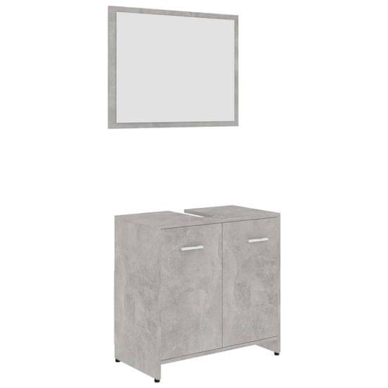 shumee Zestaw mebli łazienkowych, szarość betonu, płyta wiórowa