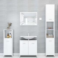 shumee Kopalniško pohištvo visok sijaj bele barve iverna plošča