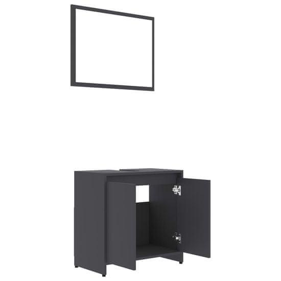 shumee Kopalniško pohištvo sivo iverna plošča