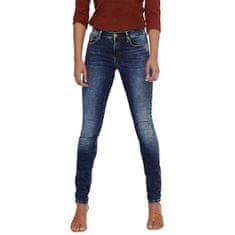 ONLY Dámské skinny džíny ONLSHAPE 15159137 Dark Blue Denim (Velikost 27/34)