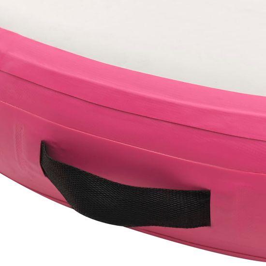 shumee Mata gimnastyczna z pompką, 100x100x15 cm, PVC, różowa