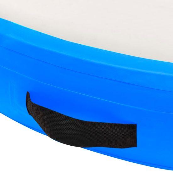 shumee Napihljiva gimnastična podloga s tlačilko 100x100x15 cm modra