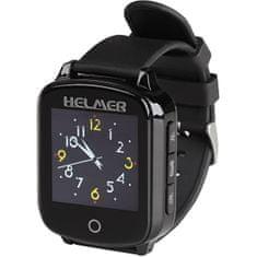 Helmer Chytré dotykové volací hodinky s GPS lokátorem pro seniory - LK 706 černé