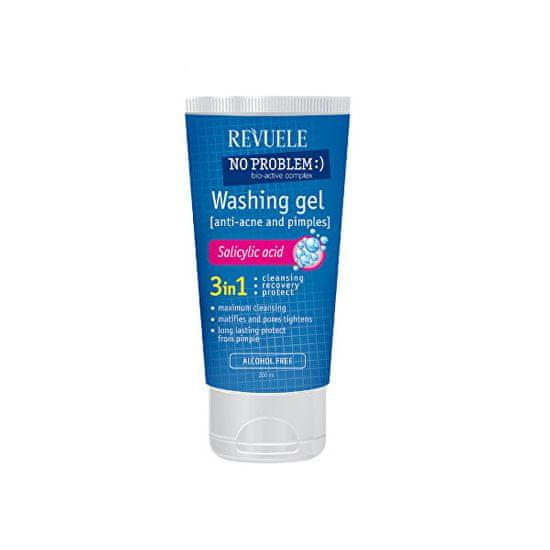 Revuele Mycí gel pro problematickou pleť 3v1 No Problem (Washing Gel Anti-Acne & Pimples) 200 ml