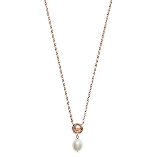 Emporio Armani Růžově zlacený stříbrný náhrdelník EG3433221 stříbro 925/1000