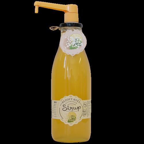 Slaskoukjidlu.cz Sirup bezový květ s citronem - tekuté ovoce v lahvi