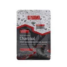 Beauty Formulas Čisticí péče o pleť s aktivním uhlím 2v1 (Charcoal Deep Absorbing Facial Mask) 13 g