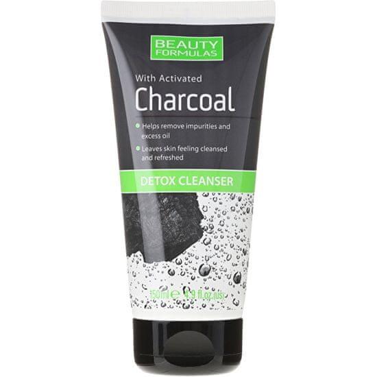 Beauty Formulas Detoxikační emulze s aktivním uhlím Charcoal (Detox Cleanser) 150 ml