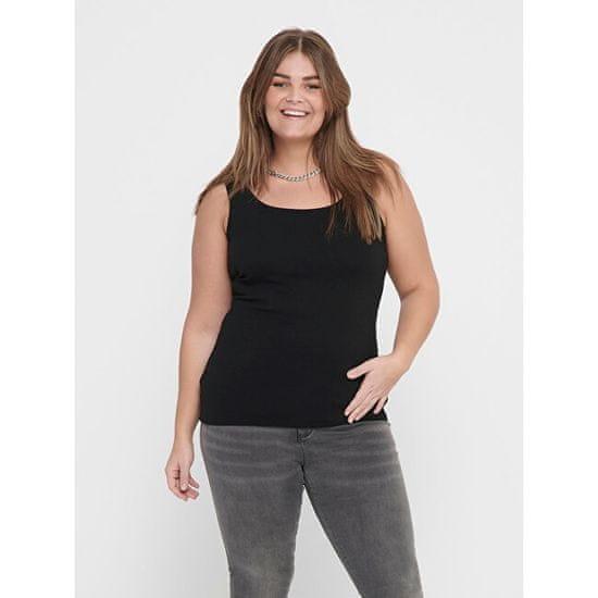 Only Carmakoma Ženska majica CARTIME rokavov CARTIME 15188035 Black