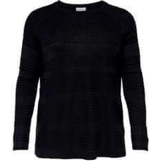 Only Carmakoma Ženski pulover CARAIRPLAIN 15193822 Black (Velikost 5XL/6XL)
