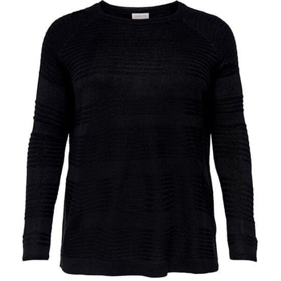 Only Carmakoma Ženski pulover CARAIRPLAIN 15193822 Black