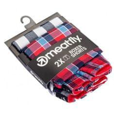 MEATFLY 2 PACK - moške kratke hlače Jukebox 20 - Dvojno pakiranje F (Velikost S)