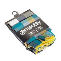 MEATFLY 2 PACK - férfi alsó nadrág Jukebox 20 - Double pack B (Méret S)