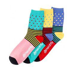 MEATFLY 3 PAKET - Stripe s nogavice Stripe s Dot nogavicami - S19 Multi paket (Velikost 40-43)