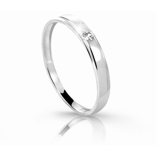 Cutie Jewellery Nežný prsteň Z6707-1617-10-X-2 biele zlato 585/1000