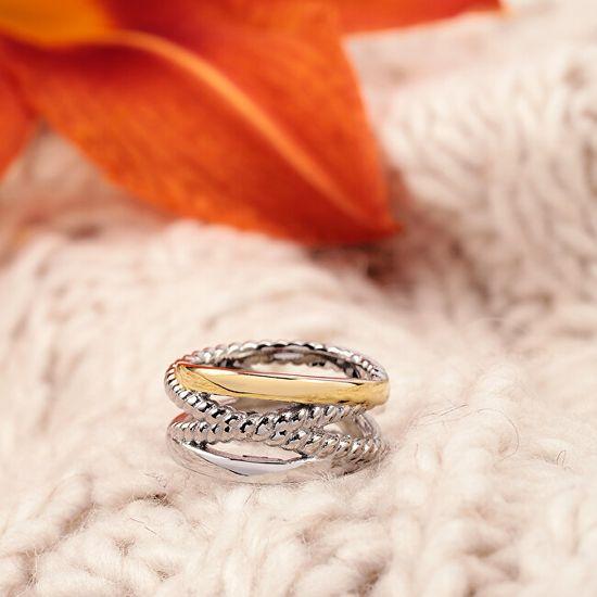 Morellato Romantikus aranyozott gyűrű Insieme SAKM86
