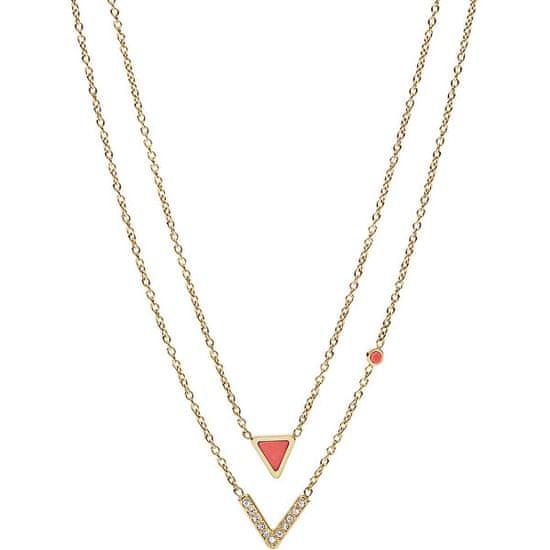 Fossil Krásný ocelový náhrdelník JF02894710