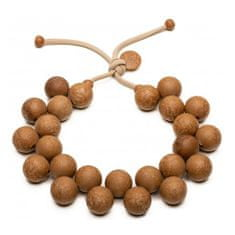 Ballsmania Originálne hnedý náhrdelník Bioballs Legno C206-0003 LE