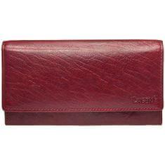 Lagen Ženska usnjena denarnica v-40/t Rdeča