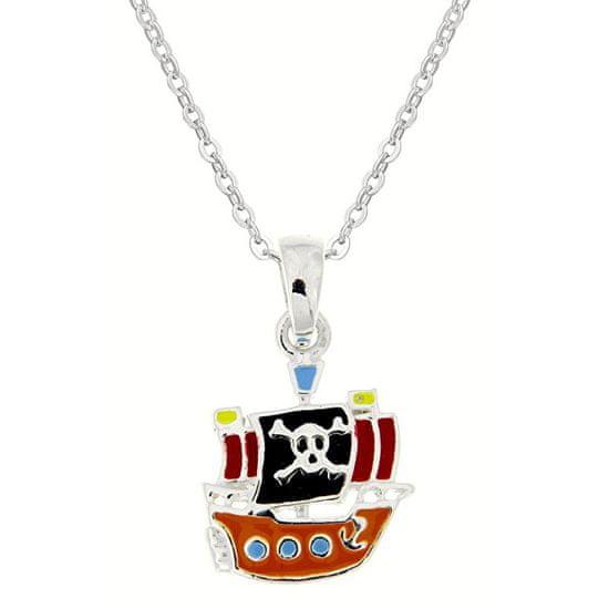 Praqia A gyermek ezüst nyaklánc Kalózok KO8058_BR030_40 (lánc, medál) ezüst 925/1000