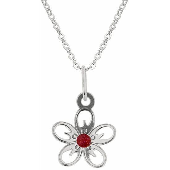 Praqia Ezüst nyaklánc lányoknak Almafa virágok KO5103_BR030_40 (lánc, medál) ezüst 925/1000