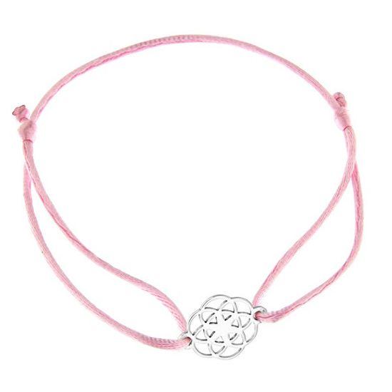 Praqia Zsinór rózsaszín kabala karkötő Mandala KA6200