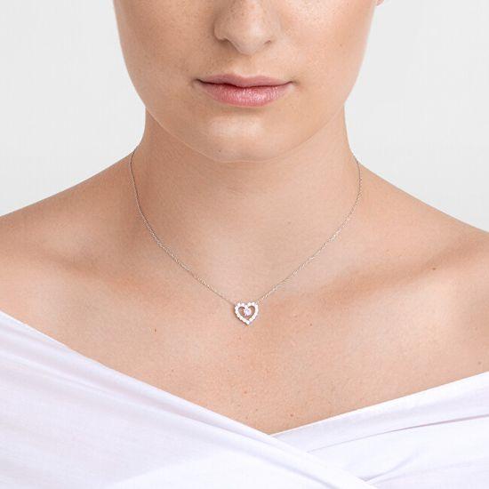 Preciosa Romantikus ezüst nyaklánc First Love cirkónium kövekkel Preciosa 5302 69 ezüst 925/1000