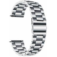 4wrist Ocelový tah - Stříbrný (šírka 18 mm)