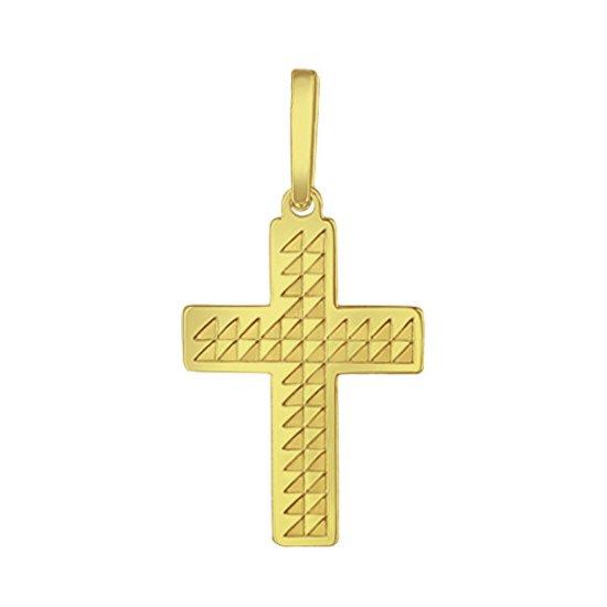 Praqia Arany kereszt medál PA6254 sárga arany 585/1000