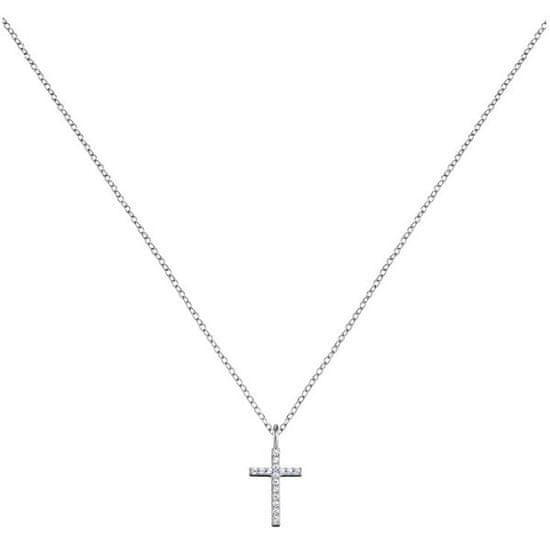 Engelsrufer Stříbrný náhrdelník Křížek se zirkony ERN-LILCROSS-ZI stříbro 925/1000