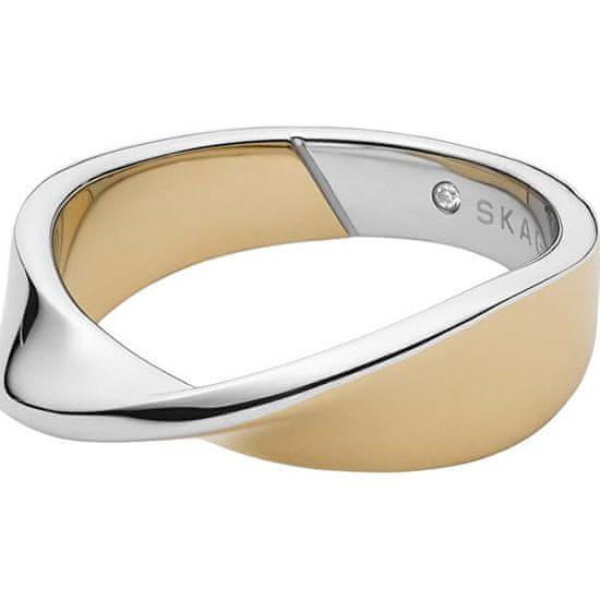 Skagen Módne bicolor prsteň s kryštálom SKJ1271998