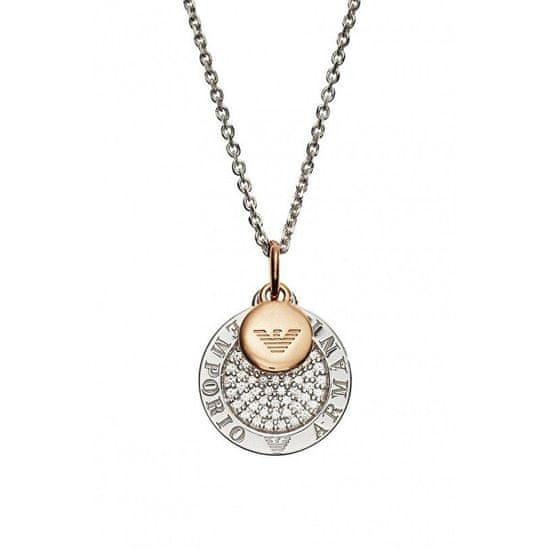 Emporio Armani Elegantní bicolor náhrdelník EG3374040