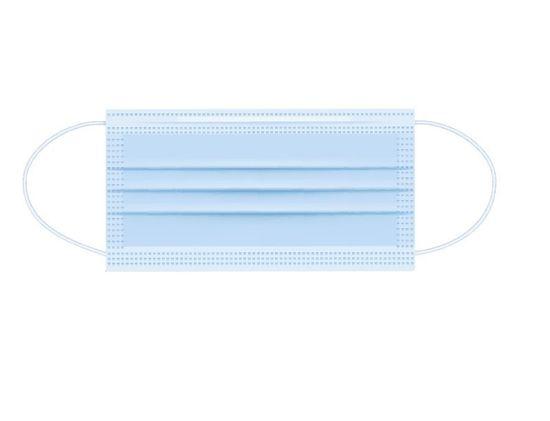 Otroška maska za usta in nos, modra, 3-slojna, za enkratno uporabo, z žico, 10 kosov