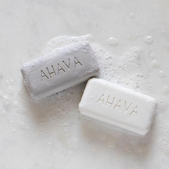 AHAVA Hydratačné mydlo so soľou a minerálmi z Mŕtveho mora na hĺbkové čistenie pleti, obnovenie prirodzeného pH, na mastnú pokožku, psoriázu, dermatitidu a ekzém 100gr