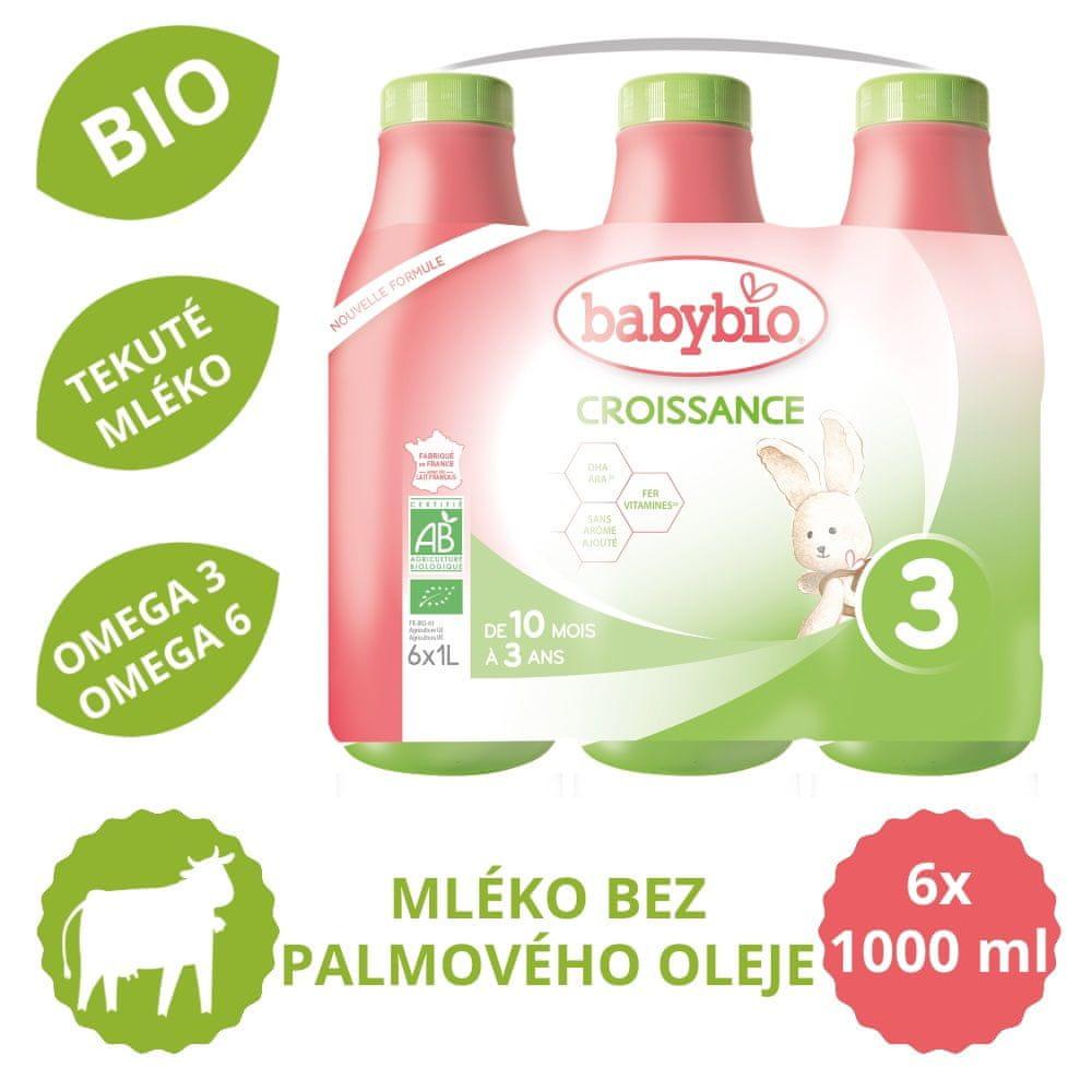 Babybio Croissance 3 tekuté kojenecké bio mléko 6x 1 l
