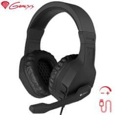 Genesis Argon 200 gaming slušalke, mikrofon, črne