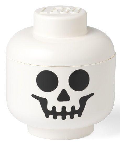 LEGO pudełko do przechowywania, głowa (rozmiar L) - szkielet