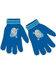 "Eplusm Dekliške prstne rokavice ""Frozen"" - modra"