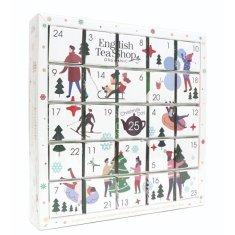 English Tea Shop Adventní kalendář Puzzle bílé BIO 25 pyramidek