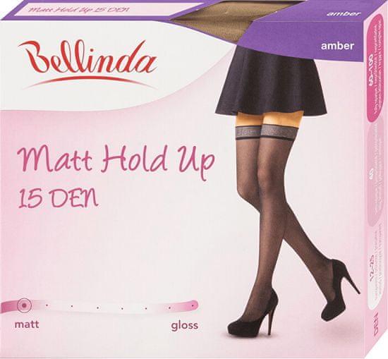 Bellinda Ženske samolepilne nogavice Matt Hold Up 20 DEN Amber BE280003 -230