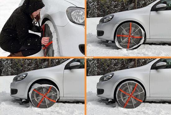 Autosock 540 – textilní sněhové řetězy pro osobní auta