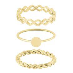 Troli Sada tří pozlacených prstenů (Obvod 60 mm)