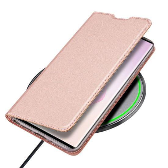 Dux Ducis Skin Pro usnjeni flip ovitek za Samsung Galaxy Note 20, roza