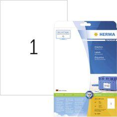 Herma 5065 etikete, 210 x 297 mm, bele, 25/1