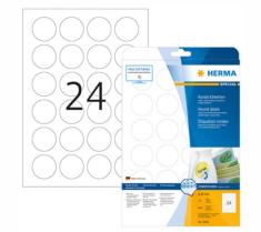 Herma 5066 etikete, odlepljive, okrogle, Ø 40 mm, bele, 600/1