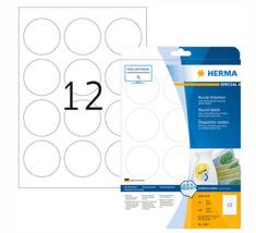 Herma 5067 etikete, odlepljive, okrogle, Ø 60 mm, bele, 300/1